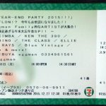 【12/28月】行ってきました【HAPPY YEAR-END PARTY 2015@渋谷eggman】2015