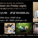 【20171117金】山口満喜@Get down on Friday night【渋谷RUIDO K2】